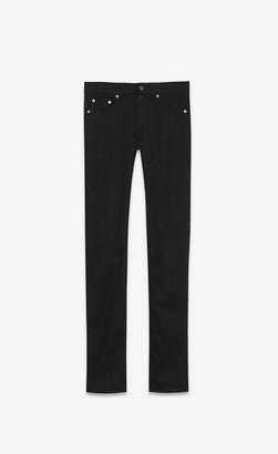 Saint Laurent Skinny Jeans In Worn Black Stretch Denim Worn Black 27