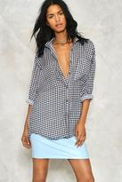Nasty Gal nastygal Gingham Oversized Blouse