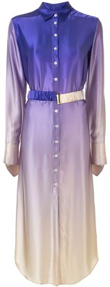 CHRISTOPHER ESBER Belted Ombre Shirt Dress