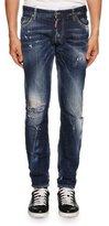 DSQUARED2 Slim-Fit Micro-Stitch Distressed Jeans, Blue