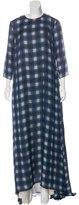 Jenni Kayne Silk Plaid Maxi Gown w/ Tags