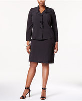 Le Suit Plus Size Ruffle-Collar Skirt Suit