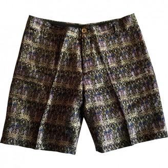 Balenciaga Purple Silk Shorts for Women