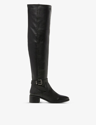 Dune Tesley leather over-the-knee boots