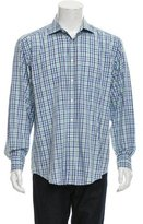Etro Madras Plaid Button-Up Shirt
