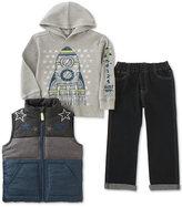 Kids Headquarters Little Boys' 3-Pc. Vest, Hoodie & Pants Set