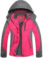 Diamond Candy Hooded Waterproof Jacket raincoat Softshell Women Sportswear BS