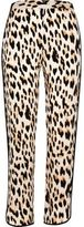 River Island Womens Leopard print soft tapered trousers