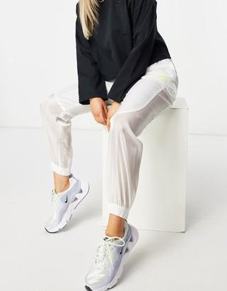 Nike transparent sweatpants in white