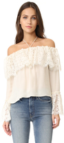 Rachel Zoe Lace Off Shoulder Top