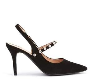 Mint Velvet Selina Black Slingback Shoes