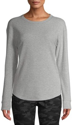 Time and Tru Women's Long Sleeve Thermal T-Shirt