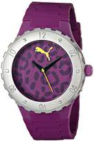 Puma Women's PU103432001 Blast S Camo Purple Analog Display Quartz Purple Watch