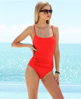 Anne Cole Classic Ruched One-Piece Swimsuit