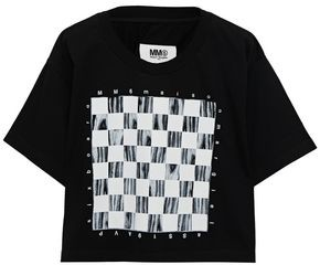 MM6 MAISON MARGIELA Cropped Printed Cotton T-shirt
