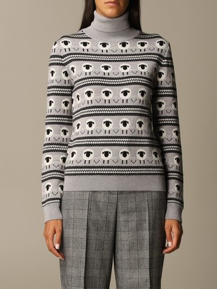 Boutique Moschino Sweater Pullover In Jacquard Virgin Wool
