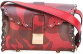 Furla scalloped detail crossbody bag - women - Calf Leather - One Size
