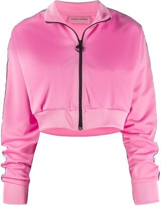 Chiara Ferragni zipped cropped jacket