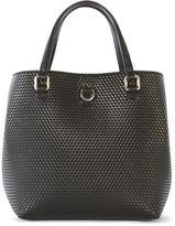 Karen Millen Embossed Bucket Bag - Black