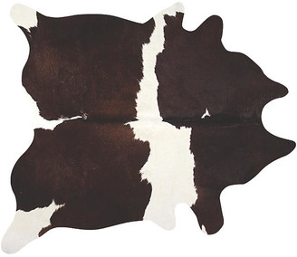 One Kings Lane Lulu Hide - White/Chocolate - 6'x7'