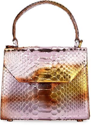 Nancy Gonzalez Python Small Top-Handle Crossbody Bag