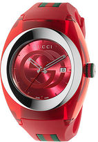 Gucci Unisex Red Sync Stainless Steel and Rubber Watch - 46mm