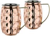 One Kings Lane Set of 2 Hudson Beer Mugs - Copper