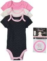 Vitamins Baby Baby Girl 3-pk. Bodysuit & Sticker Set