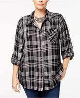 Style&Co. Style & Co Plus Size Oslo Plaid Shirt, Created for Macy's