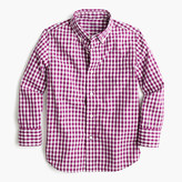 J.Crew Kids' Secret Wash shirt in bright gingham