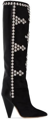 Isabel Marant Lyork stud-embellished 95mm boots