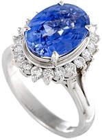 Heritage Platinum Diamond & Sapphire Ring