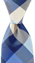 Roundtree & Yorke Big Buffalo Check Traditional Silk Tie
