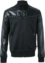 Just Cavalli zip up studded jacket
