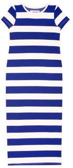 L.F. Markey Paolo Dress Blue Stripe - 8