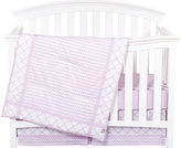 Trend Lab Lilac Orchid Bloom Three-Piece Crib Bedding Set