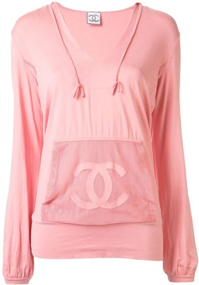 Chanel Pre Owned Sports Line CC hoodie