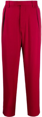 Just Cavalli Straight Fit Pleated Waist Trousers