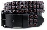 NYfashion101 Pyramid Studded Colored Star Print Single Hole Roller Buckle Belt L