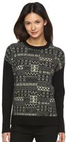 Woolrich Women's Patchwork Crewneck Sweater