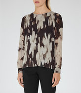 Reiss Shay Printed Plisse Top