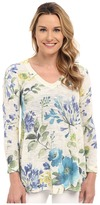 Nally & Millie Floral V-Neck Tunic