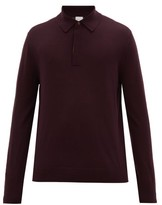 Paul Smith - Striped Placket Merino Wool Polo Shirt - Mens - Burgundy