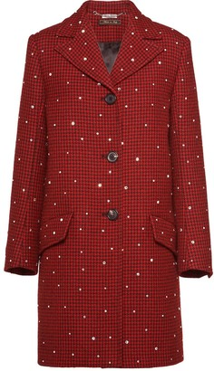 Miu Miu Houndstooth check coat