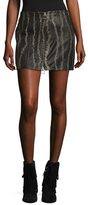 Free People Obessed Leather Mini Skirt