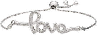 SPARKLE ALLURE Sparkle Allure Pav Cubic Zirconia Silver-Plated Bracelet