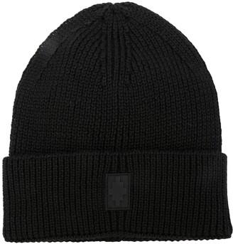 Marcelo Burlon County of Milan Logo Knitted Beanie Hat