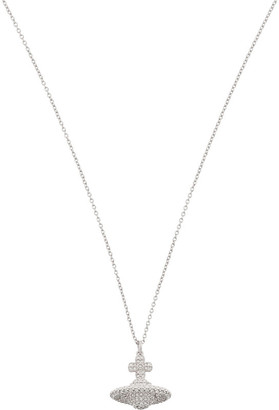 Vivienne Westwood Women's Crystal and Rhodium Grace Pave Orb Necklace, Size: Small