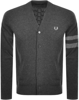 Fred Perry Tipped Knit Cardigan Grey