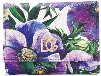 Dolce & Gabbana Floral Print Leather Wallet
